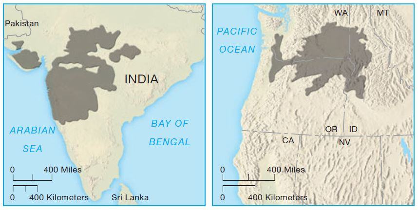 Volcanism, Lava Flows and Volcanic Eruptions: flood basalt deccan traps UPSC - IAS