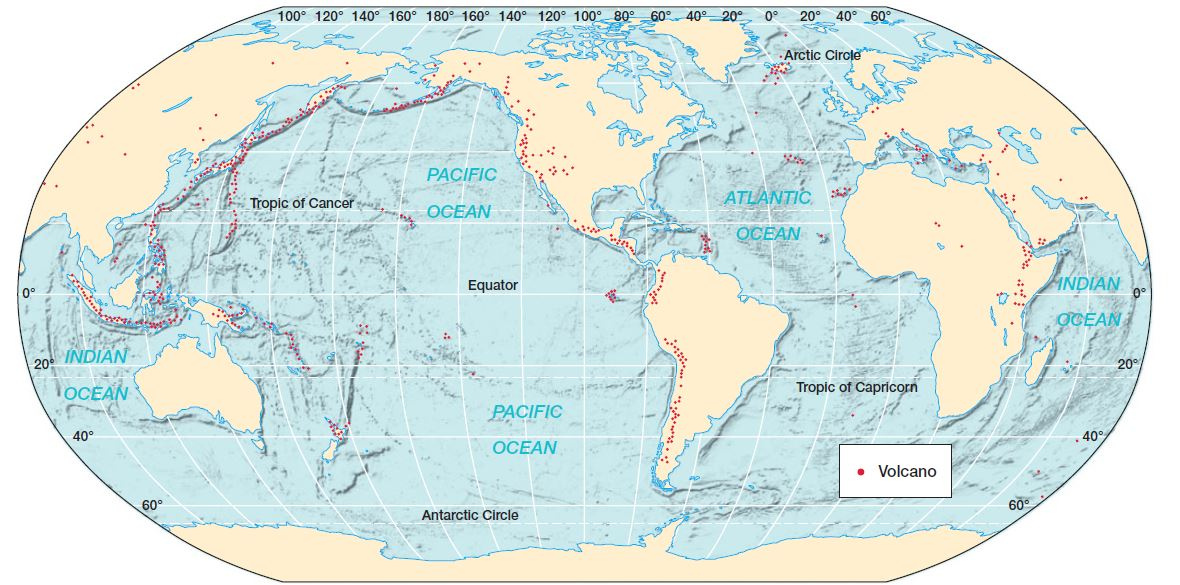 Distribution of Earthquakes and Volcanoes UPSC - IAS