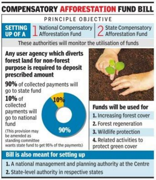 Compensatory Afforestation Fund 2019 the Hindu UPSC - IAS